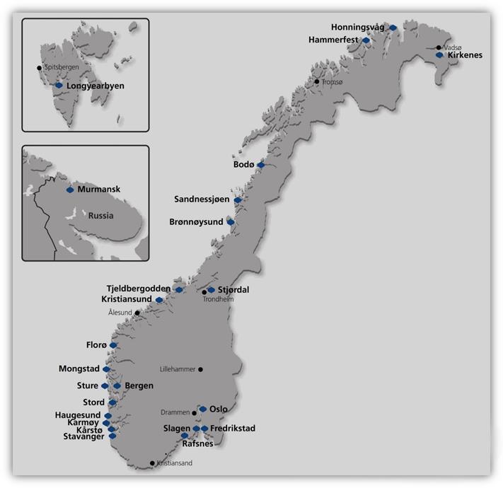 map Nordic Gateway AS